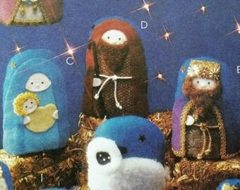 McCalls Crafts 2996 Oh Holy Night nativity pattern, uncut factory folded pattern, Christmas manger scene pattern, Christmas ornament pattern