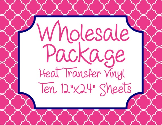 """Wholesale Package for Ten 12""""x24"""" Heat Transfer Vinyl Sheets // Beautiful, Vibrant Patterns"""