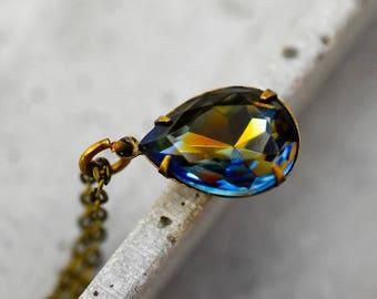 Crystal Drop Vintage Necklace (VIK-113)
