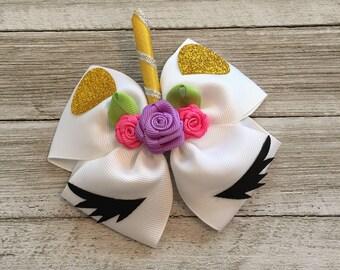 Unicorn Hair Bow, Unicorn Hairbow, Hair Bows for Girls, Unicorn Baby Headband, Unicorn Birthday Outfit, Unicorn Party