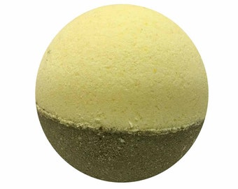 Honey & Almond Bath Bomb, Bath Fizzy, Handmade Spa Product, Epsom Salts, Hydrating Coconut Oil, Sensitive Skin, Great Gift for Her