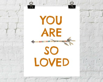 Nursery Decor, You Are So Loved, Whimsical Prints, Nursery Wall Art, Typography, Instant Download, Printable Wall Art- ADOPTION FUNDRAISER