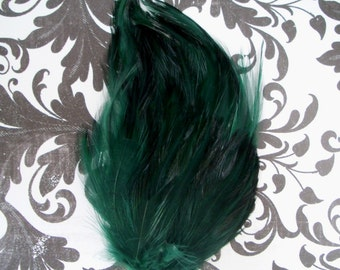 Hunter Green Hackle Feather Pad