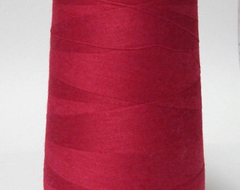 Red Overlock Poly Thread 6000 Yards