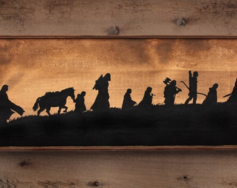 Rustic wooden sign ' The Fellowship '