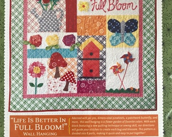 Life is Better in Full Bloom - Wall Hanging Pattern - by Kimberbell - KD187