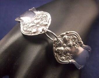 Spoon Bracelet-1908- Arbutus- Handmade- Spoon Jewelry- Lobster Clasp- Medium