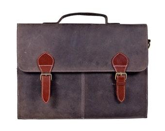Genuine Leather Laptop Office Messenger  Bag