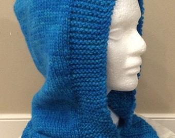 Hand Knit Hood in 100% Alpaca