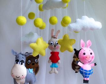 nursery decor,baby mobile,nursery mobiles, stars baby mobile, unisex baby mobile,Baby crib mobile, baby mobile hanging Multicoloured mobile