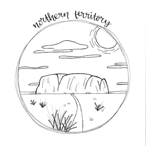 Print / Australia / Northern Territory / Uluru / Ayers Rock