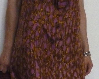 Vintage 1960s dress with neck-scarf. Size M
