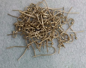 Ball End Earwires Antique Brass