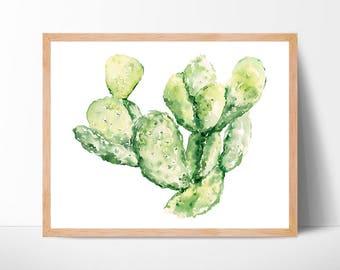Cactus Watercolor Print No.221 Cacti Artwork Cactus Painting Art Southwest Art Print Cacti Cactus Watercolor Cacti Print Cacti Art Western