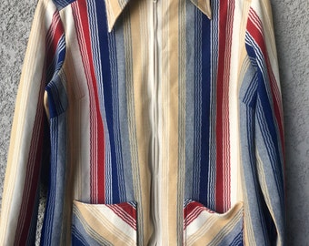 CLEARANCE L/XL Striped Terry Chicago jacket