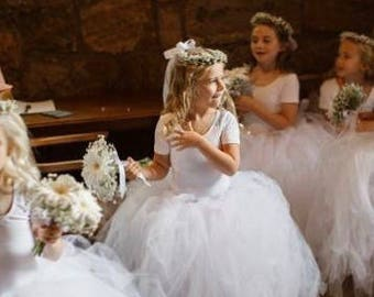 White tutu, flower girls tutu, Flower Girl dress, tulle skirt, baby cake smash, tutu skirt, baby tutu, newborn tutu wedding tutu, tutu dress