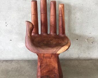 Hand Carved Teak Wood Left Hand Chair (7XUB6R)