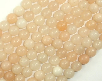 Pink Aventurine Beads, 8mm (8.2mm) Round Beads, 15.5 Inch, Full strand, Approx 48 beads, Hole 1mm, A quality (353054002)