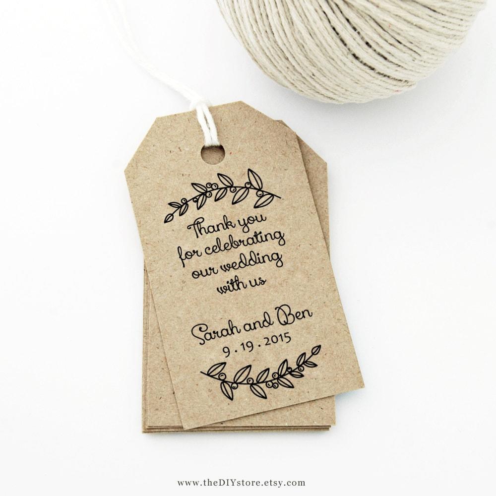 Thank You Tag MEDIUM Wedding Tag Gift Tag Love Laurels