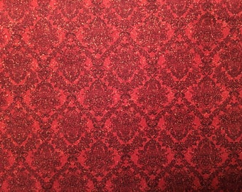 Christmas fabric by the yard - red Christmas fabric - red fabric by the yard #17144