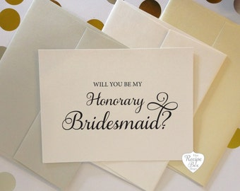 Will you be my Honorary Bridesmaid Card Bridesmaid Proposal Asking Bridesmaid Invitation Wedding Card Bridal Party Card