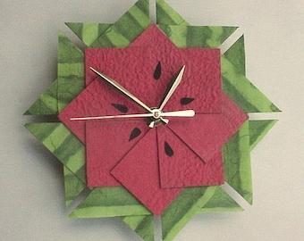 Wassermelone Kitchen Clock, Origami-Clock-groß