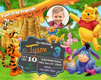Tigger invitations etsy on sale personalize winnie and the pooh party invitation tigger birthday invite filmwisefo