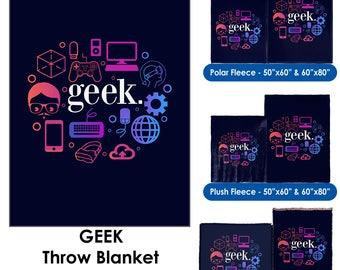 Geek - Throw Blanket / Tapestry Wall Hanging