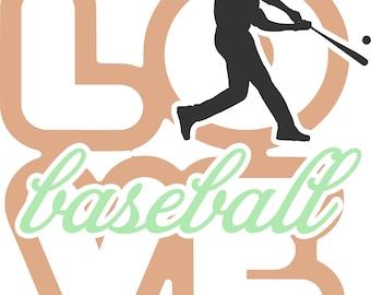 Love Baseball SVG Cutting File for the Cricut
