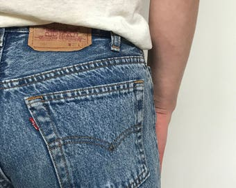 80's Vintage distressed acid wash Levis 501 27x30