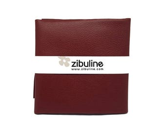 Coupon of faux leather cord - 45 x 50 cm - Burgundy color