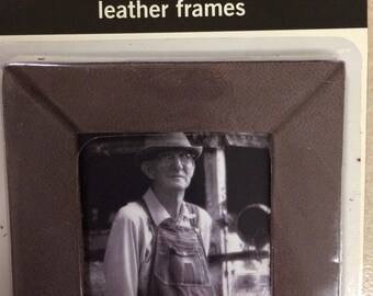 Making Memories Brown Mitered Leather Frame