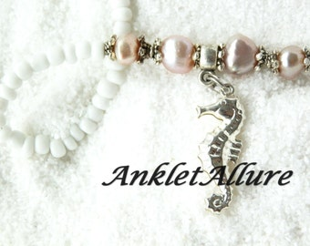 Ankle Bracelet Seahorse Anklet Pearl Ankle Bracelet Beach Anklet GUARANTEE Anklet for Women
