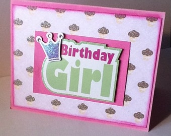 Handmade Birthday Card for girl, handmade birthday cards for girls, handmade birthday card, hand made cards, handmade cards for girls