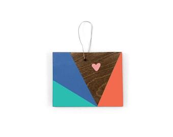 Colorado Heart Ornament