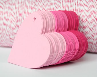 "50 - 2"" Valentine Heart Tags for Gift Tags / Product Tags / Thank You Tags / Hang Tags"