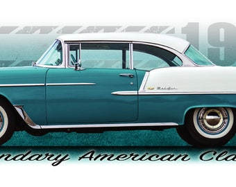 1955 Chevy BelAir Shirt Tri-Five Chevrolet classic car