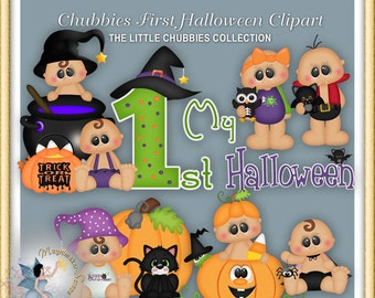 Baby Clipart, Chubbies First Halloween