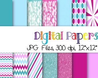 Glitter papers, Diamonds papers, Lines papers, Bokeh Papers, Chevron papers, Sunburst papers, Solid papers,Dots papers, digital papers