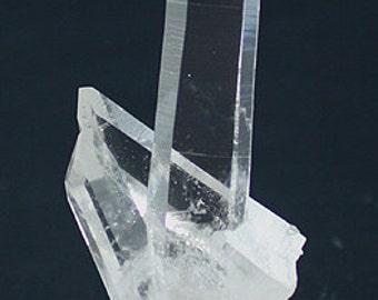 Water-clear Quartz crystal cluster, Arkansas - Mineral Specimen for Sale