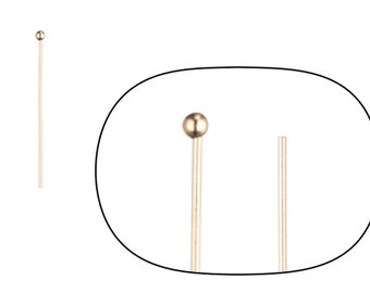 90pcs 24ga 16k gold-finished ball pin 0.8inch with 1.5mm ball