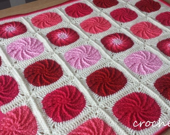 crochet pattern, twirling circle afghan, crochet blanket pattern, baby blanket pattern, crochet circle