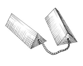Airplane Chocks Aviation Drawing Print