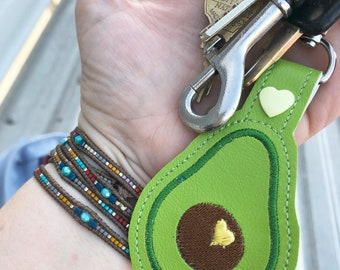 Avocado keyring tag - novelty leyfob - low carb keyring keychain -best gifts for her- gifts under 10