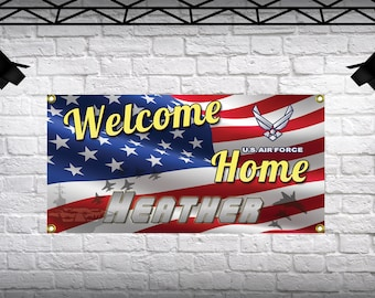 Welcome Home Banners Personalized Large 2x4 Custom Vinyl
