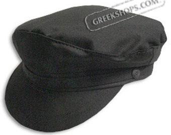 Greek Fiddler Fisherman Hat - Black Cotton