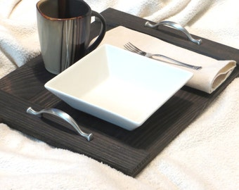Serving Tray, Wood Serving Tray, Breakfast Tray, Breakfast Bed Tray