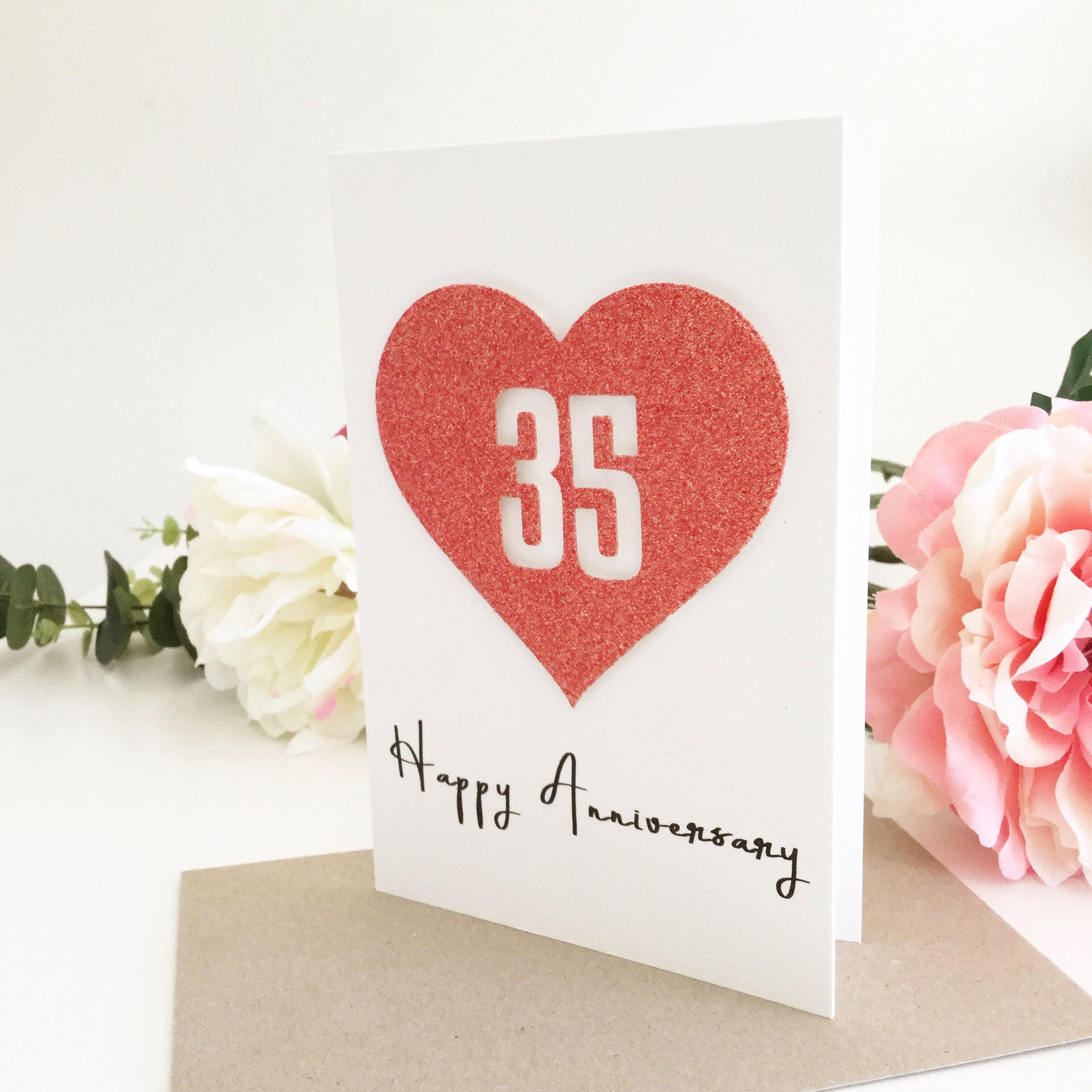 35th Anniversary Card 35th Anniversary Gift for Husband 35th