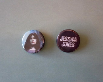 Jessica Jones Inspired Pinback Buttons