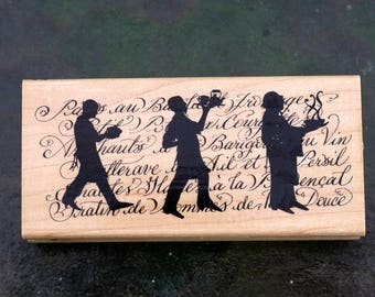 Rubber Stamp, Chef,  All Night Media, Wood Mounted Rubber Stamp, New